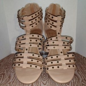 New Directions Amica Gladiator Sandals Nude 9.5